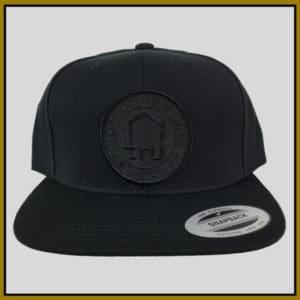 Tru Skool Black on Black Snapback