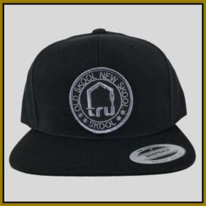 Tru Skool Grey On Black Snapback
