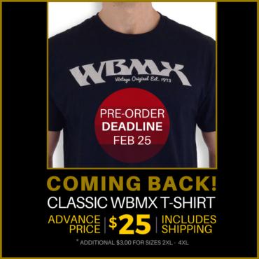 WBMX T – NOW SHIPPING