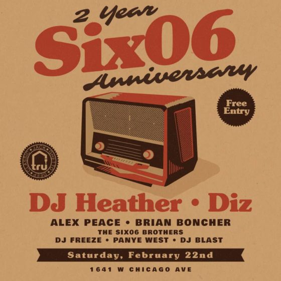 Sat Feb 22 | Six06 Cafe 2 Year Anniversary Party