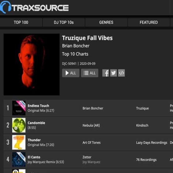 Truzique Fall Vibes – Sep 2020 Traxsource Chart